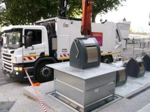 Campagne d'entretien des conteneurs enterrés: une possible gêne à prévoir.