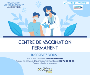 Vaccination Montalieu : désormais ouverte à l'ensemble de la population