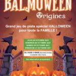 NOUVEAUTÉ : BALMOWEEN ! (version FAMILLE) Du 28 au 31 octobre